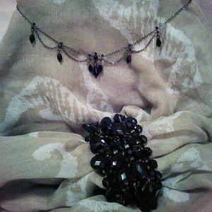 Jewelry - Black beaded necklace and bracelet